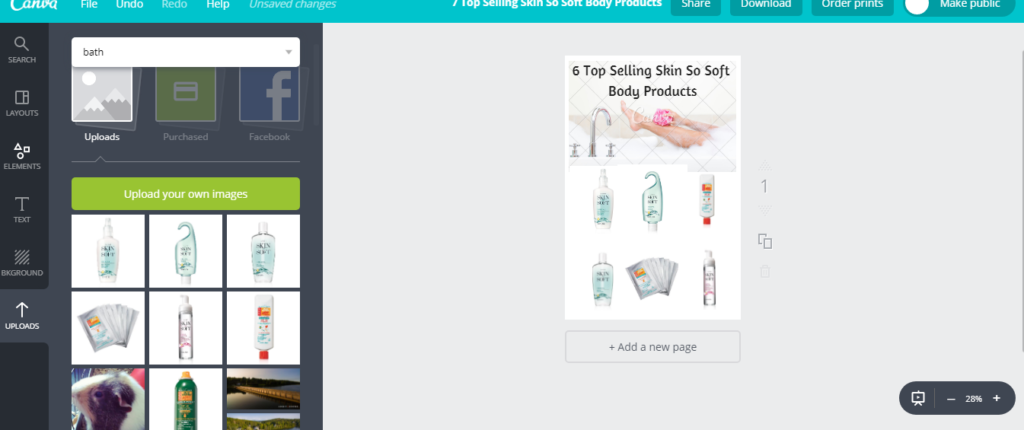 Screenhot photo of Canva account to learn How to Create a Clickable PDF in Canva