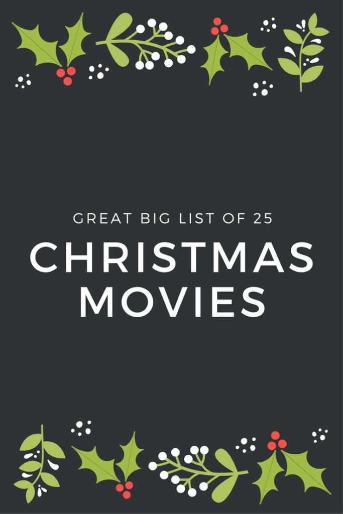 The Best Christmas Movie List Ever