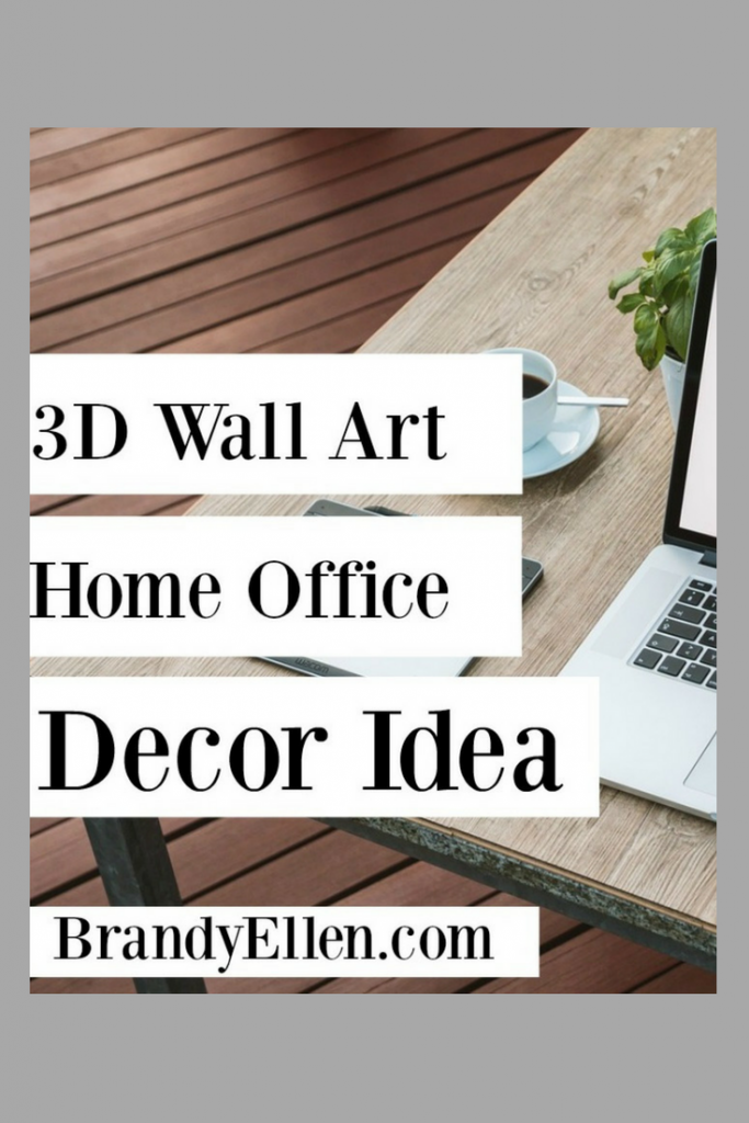 3D wall Art Home Office Decor Idea