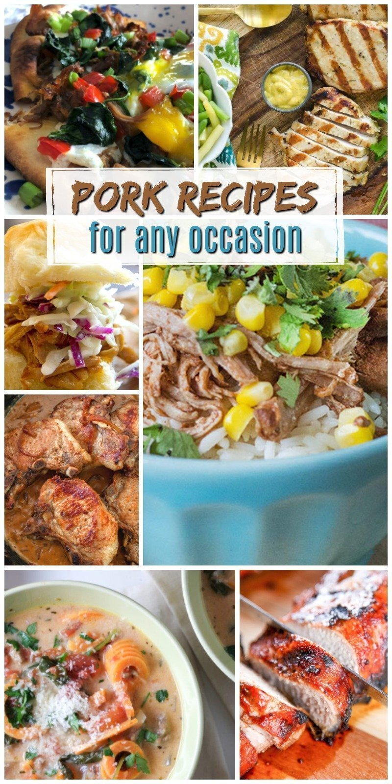 Looking for a good pork recipe to enjoy with the family this evening? Check out these 12 Pork Recipes for any Occasion. You're sure to find an easy meal option using pork within this roundup.
