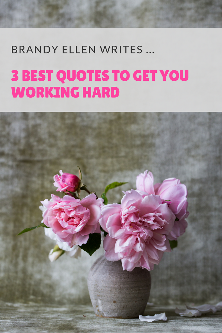3 Best Quotes to Get you Working Hard