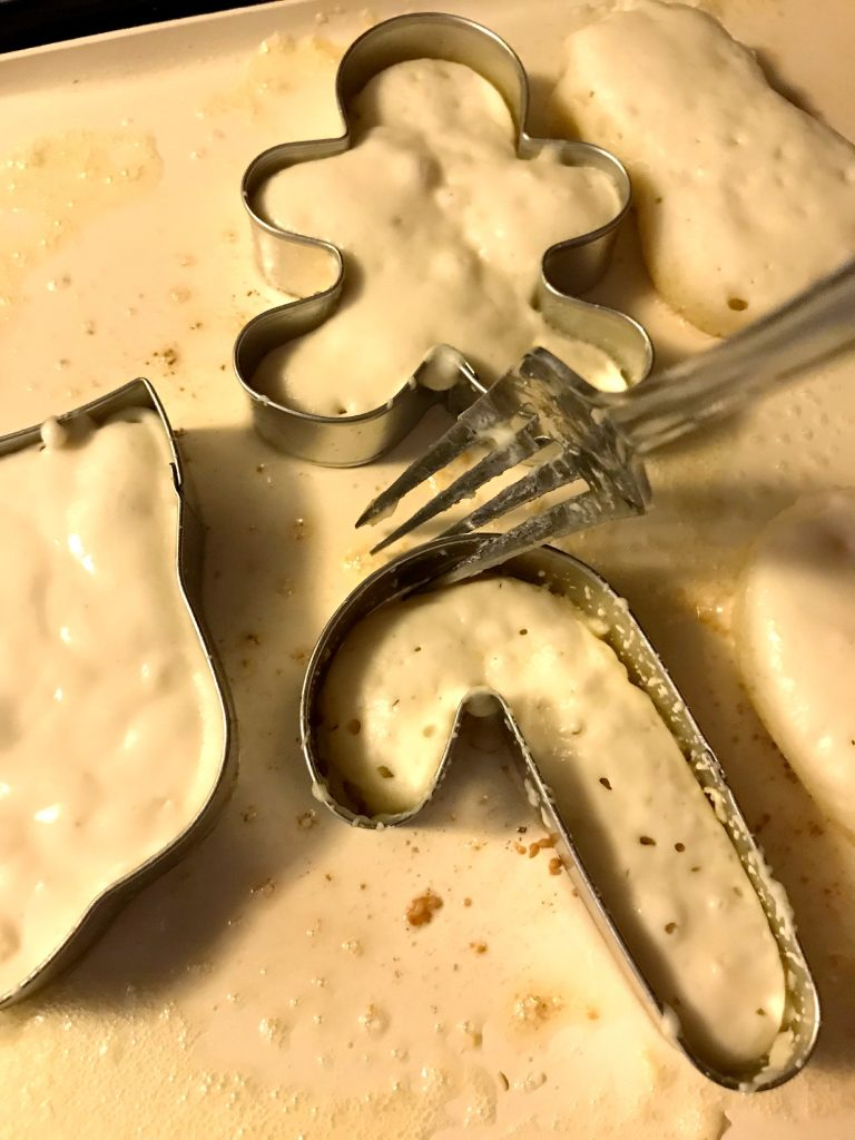 Christmas Cookie Cutter Pancakes