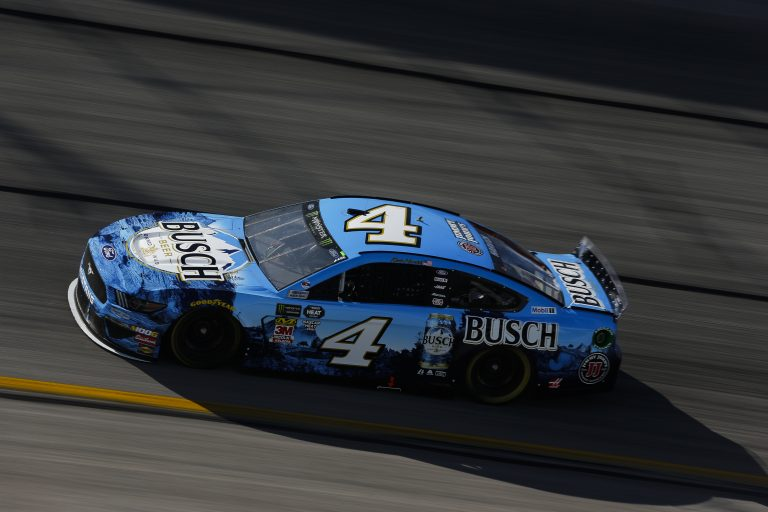 See the No. 4 Busch Beer Ford Mustang
