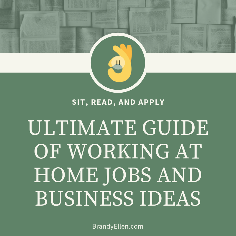 ULTIMATE GUIDE OF WORKING AT HOME JOBS AND BUSINESS IDEAS