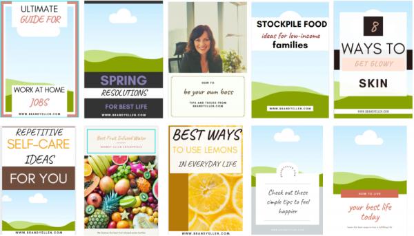 10 PackEditable Canva Pinterest Templates