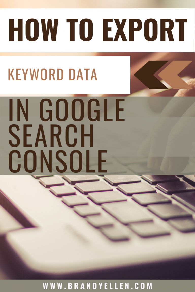 How to Export Keyword Data from Google Search Console